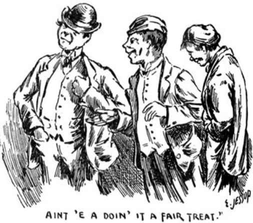"of The Idler Magazine, An Illustrated Monthly, June 1893. ""No offence, sir,"" said the"