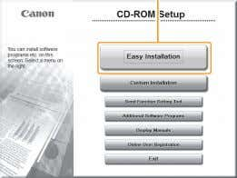 function in the IPv6 environment. Insert the CD-ROM. Click. [Easy Installation] performs the installation of the