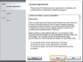 screen is not displayed. Proceed to Step . Read the contents of the License Agreement. Click.