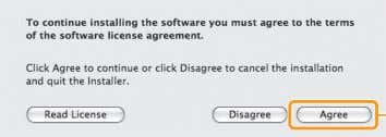 Click. Read the contents of the License Agreement. Click. Click. Click. * You cannot change the