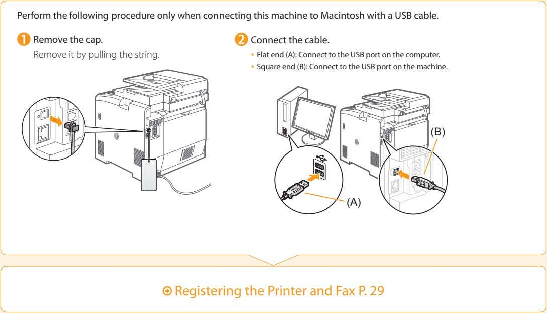 Perform the following procedure only when connecting this machine to Macintosh with a USB cable.