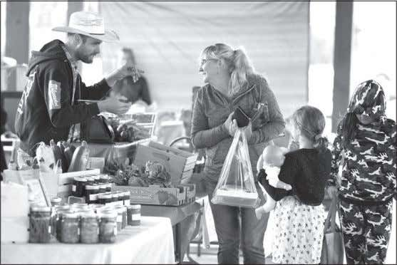 September 27, 2019 • Strathmore TIMES • Page 5 Final market Vendors set up their tables
