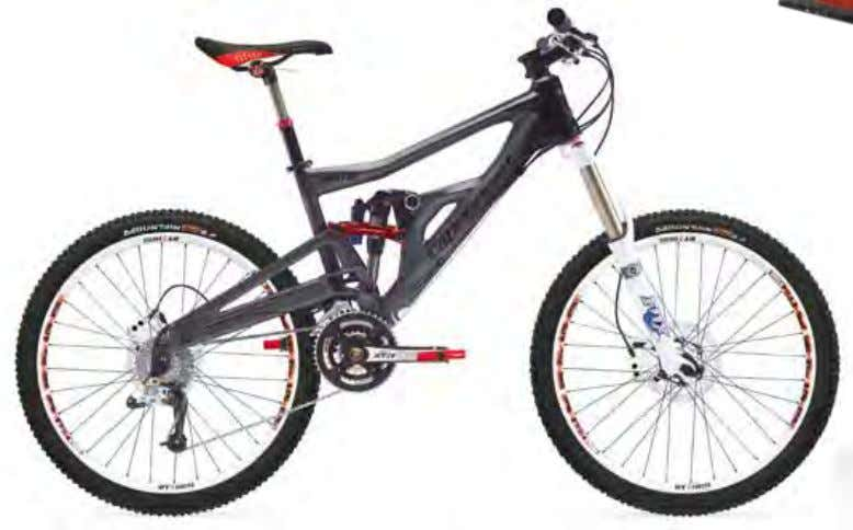 "moto carbon 1 Frame Moto Carbon 160 mm tires Continental Mountain King Supersonic, 26x2.4"" Saddle"