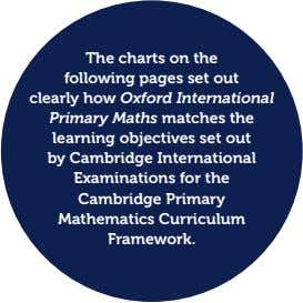 The charts on the following pages set out clearly how Oxford International Primary Maths matches