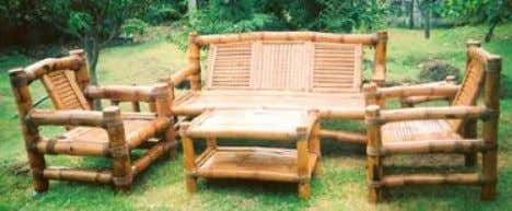 Recycle materials, sustainable design  Bamboo Furniture Bamboo furniture can be used outside the coffee tables