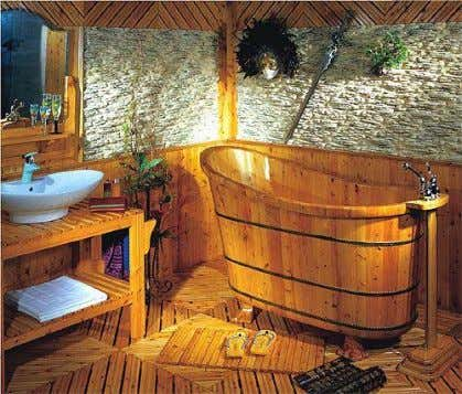 Recycle materials, sustainable design  Bamboo Sink Bamboo sink can add a histrionic effect to the