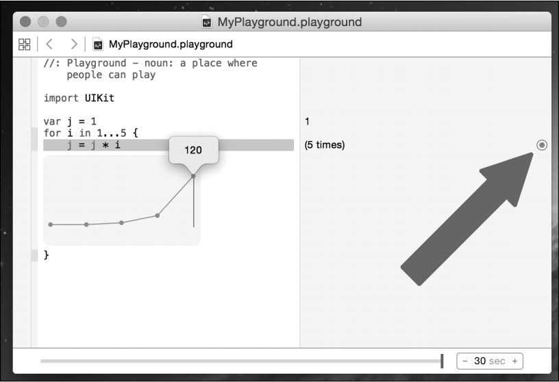 how graphing works, take a look at the following Playground: In this playground, we set the