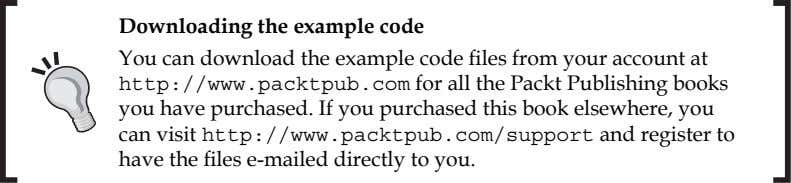 Downloading the example code You can download the example code fi les from your account