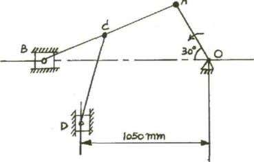 ME 6401 KINEMATICS OF MACHINERY 1. For toggle mechanism as shown below, the slider D is