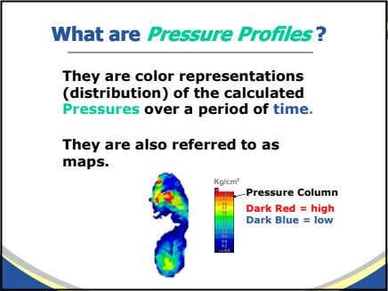 WhatWhat areare PressurePressure ProfilesProfiles ?? They are color representations (distribution) of the calculated