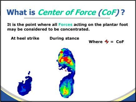 What is Center of Force (CoF) ? It is the point where all Forces acting