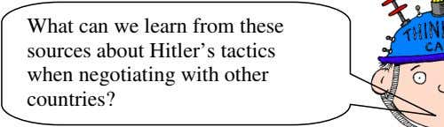 What can we learn from these sources about Hitler's tactics when negotiating with other countries?