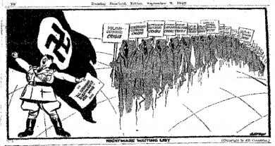 9 As the Sudeten crisis escalated, this cartoon delivered the same warning whereby, as Hitler