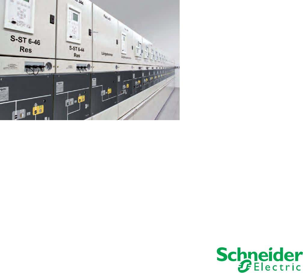 up to 24 kV Gas-insulated switchgear for primary distribution - as single and double busbar system