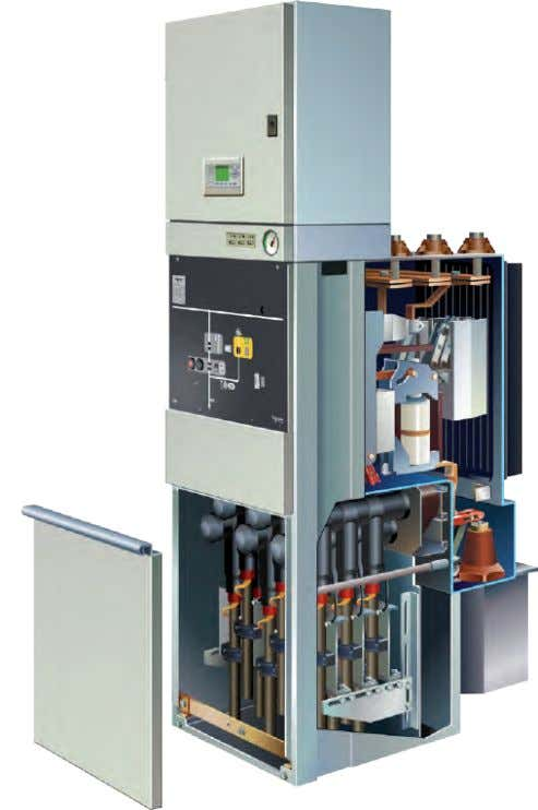 Design (contd.) Circuit-breaker functional unit CB Module width 600 mm with cooler attachment 1250 A Functional