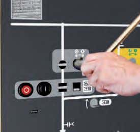 unlocking Control panel of a circuit-breaker functional unit Mechanical operation of the disconnector Mechanical