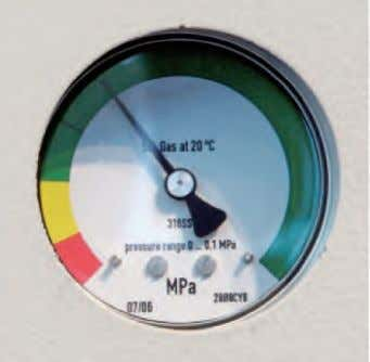 Design (contd.) GMA switchgear with pressure gauge Pressure gauge indicating readiness for operation (basic