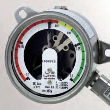 gauge indicating readiness for operation (basic design) Pressure gauge with remote signalling (optional) Gas