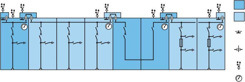 Gas- lled compartment 1 Gas- lled compartment 2 Valve Gas compartment connection and pressure compensation