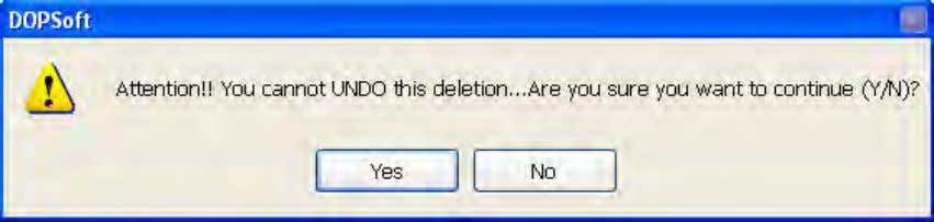 Once the screen is deleted, it cannot be restored by undo. Figure 2-2-6-5 Delete Screen 2-2-6-8
