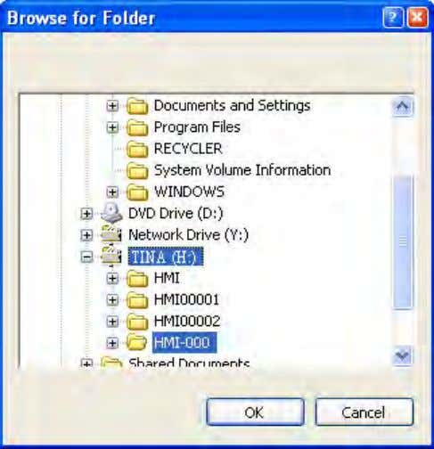 the directory to save the file, as shown in Figure 2-2-3-4. Figure 2-2-3-4 Choose screen data