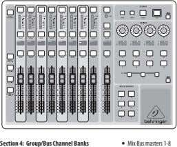 VIEW – 6 VIEW Section 4: Group/Bus Channel Banks • Mix Bus masters 1-8