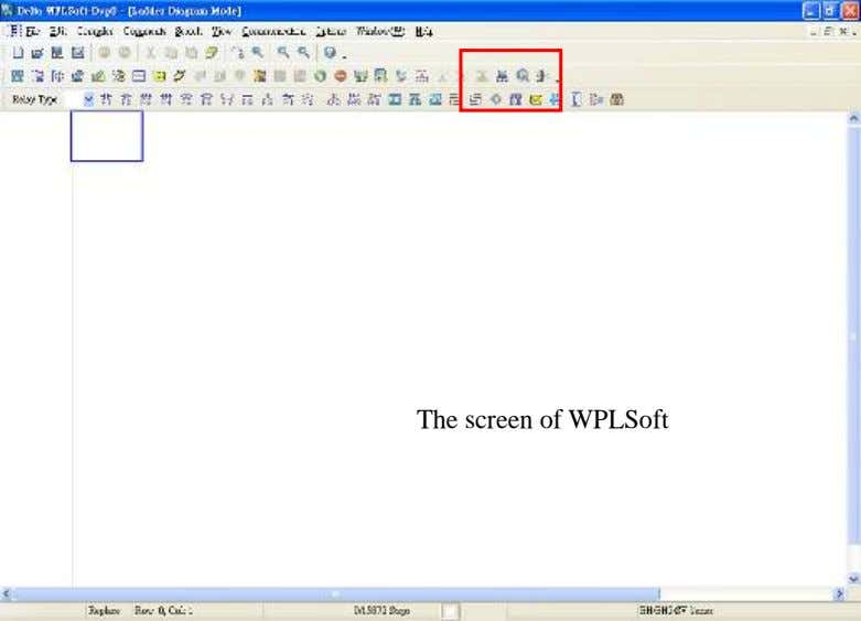 The screen of WPLSoft