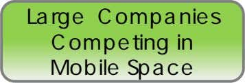 Large Companies Competing in Mobile Space