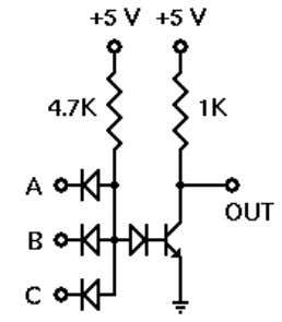 to this idea, and see how well it works. Schematic Diagram The DTL NAND gate combines