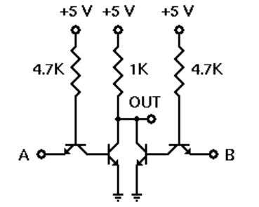 a TTL NOR circuit and test its operation. Schematic Diagra m The figure to the right