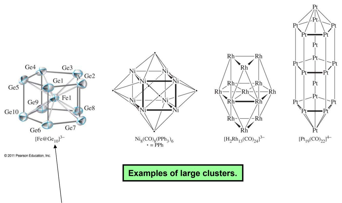 Examples of large clusters.