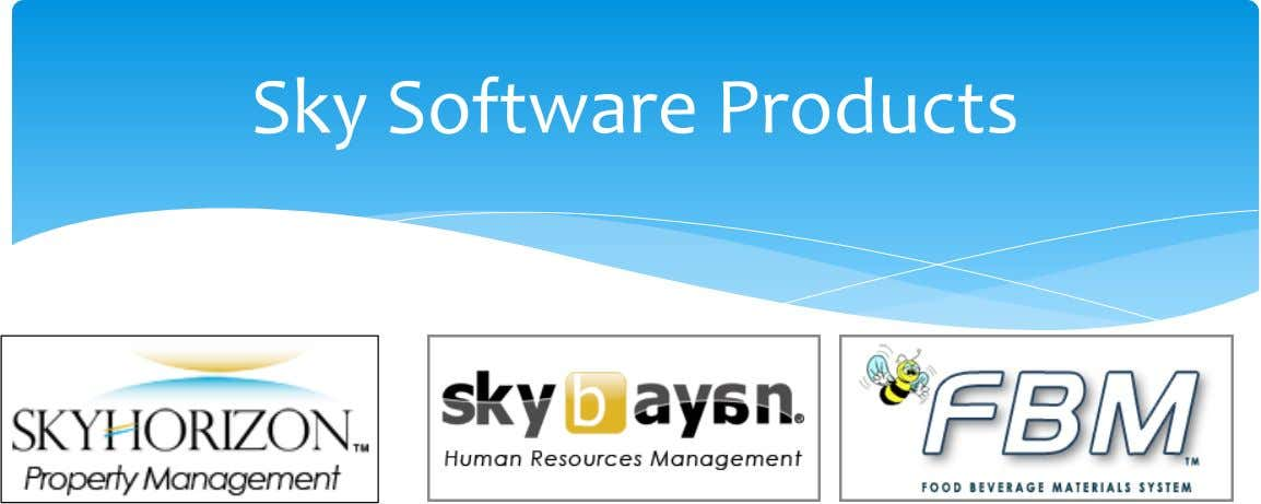 Sky Software Products