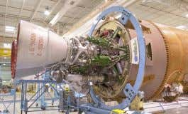 (SpaceX) A NewtonOne engine undergoing a test (Virgin Orbit) An RD-180 engine installed ont he first