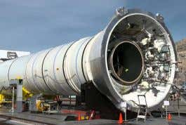 Annual Compendium of Commercial Space Transportation: 2018 A 5-segment Solid Rocket Booster being prepared for ground
