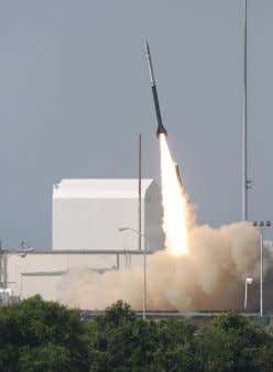 located at Wallops Flight Facility (WFF) in Virginia. A Black Brant sounding rocket launched in 2011