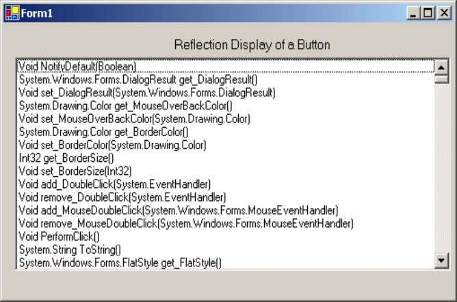 Note :- Sample source code are compiled using VB.NET 2005. Figure:- 1.9 Sample reflection display Sample