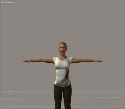 32 Poser 8 Tutorial Manual Figure 6.4: The view of the workspace with the Point At