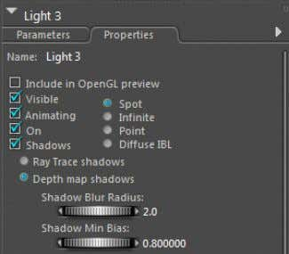 available choices at the top of the palette. Tutorial Manual Figure 7.8: The Spotlight option on