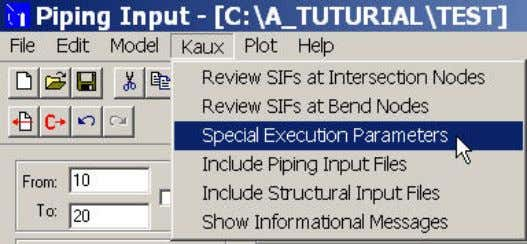 below From Kaux menu, Select Special Excution Parameters Tick Uniform load in G's 9