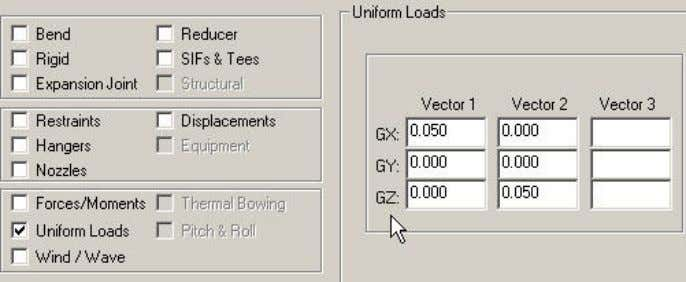 GX=0.05, GY=0, GZ=0.05 See piture) http://www.azpiping.com If your project require using UX, UY, UZ instead of