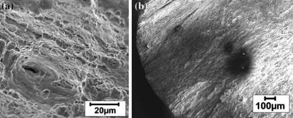 failure in presence of sulfide-containing caustic solutions Fig. 9 Fractography showing crack initiation sites in the