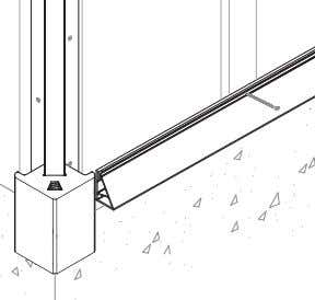 "joists or into the studs. A 4"" (102mm) screw is required. 14 Adjust to hide foundation"