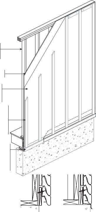 "extend the hose bib and remove downspouts if necessary. • Studs 2"" x 4"" (38mm x"