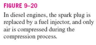 Hence, combustion process in the ideal Diesel cycle is approximated as a constant- pressure heat-addition process.