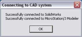 CAD systems; the following message will be displayed. Click on the OK button. 11.The following dialog