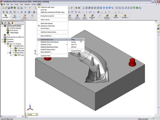 folder after the standard installation procedure. This Help is available via the SolidWorks Help menu.