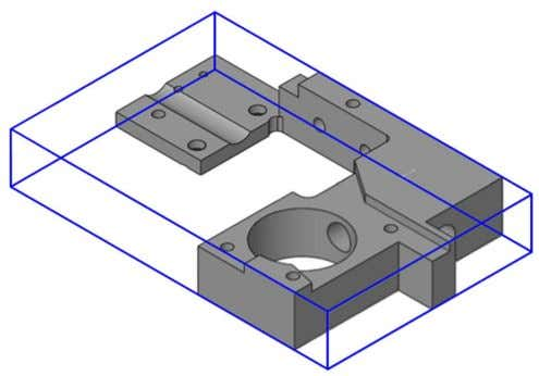 this case the box surrounding the model will be calculated. The upper plane of the model