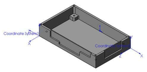 User's Guide 2. CAM-Part Select coordinate system SolidCAM enables you to choose the Coordinate System defined
