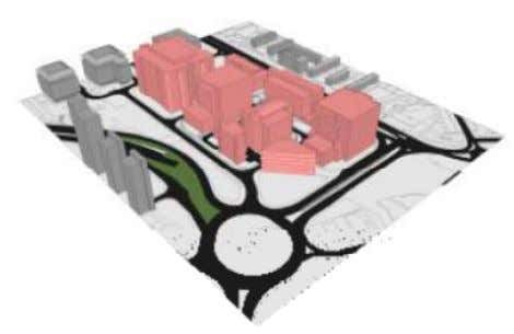 3-D View (with proposed buildings on right of group) Figure 1-4 Indicative Data Centre Ground Floor