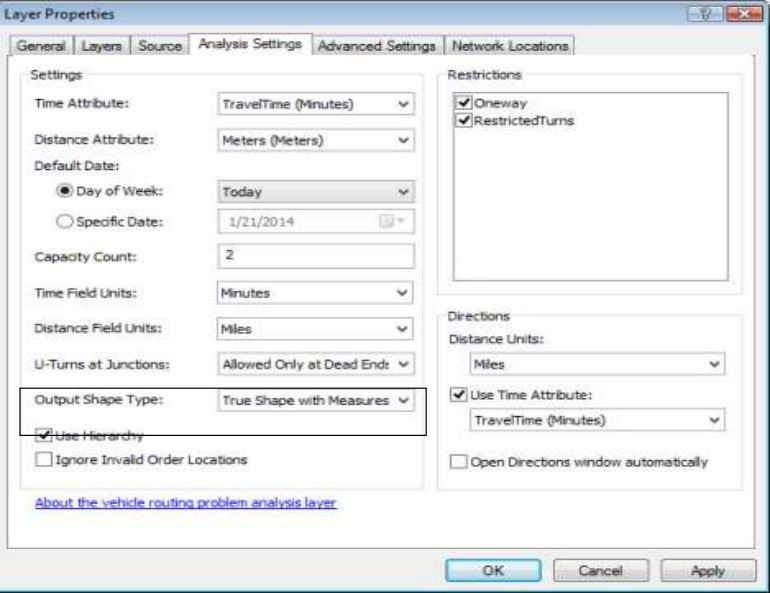 These Parameters are found on Analysis Settings tab of the analysis layer's Layer Properties dialog box.